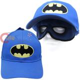 DC Batman Hat Kids Baseball Cap with Eye Mask