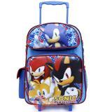 "Sega Sonic The Hedgehog  Roller School Backpack 16"" Large Bag -Checkers"