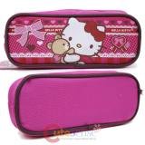 Sanrio Hello Kitty Zippered  Pencil Case Pouch Bag - Pink Bear