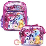 "My Little Pony 12"" School Backpack Lunch Bag 2pc Girls Bag Set -Friendship"