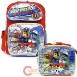 "Paw Patrol  16"" Large School  Backpack Lunch Bag 2pc Book Bag Set -On a Roll"