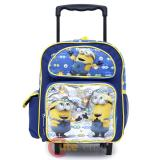 "Despicable Me Minions School Roller Backpack 12"" Small Rolling Bag -Eyes"