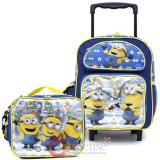 Despicable Me Minions Small School Roller Backpack with Lunch Bag 2pc Set - Eyes