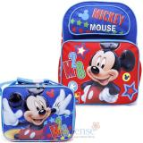 Disney Mickey Mouse Large School Backpack with Lunch Bag Set - M28