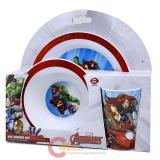 Marvel Avengers Kids Dining  Dinnerware Set 3pc Plate Bowl Tumbler Set