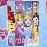 Disney Princess Plush Microfiber Throw Blanket Twin - Dreamers