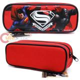Batman V Superman Pencil Case Stationery Pouch Bag - Red