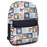 "Pokemon XY Pokemon Multi Characters Checker 17"" Large School Backpack"