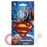 DC Comics Superman Shield Logo Metal Key Chain Pewter 3D Color