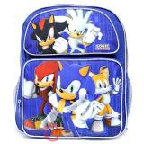 "Sega Sonic The Hedgehog School Backpack  14"" Medium Bag with Silver Sonic"