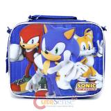 Sonic The Hedgehog School Lunch Bag Insulated Snack Box  - Blue Group
