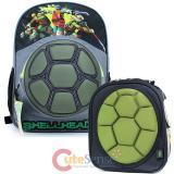 "TMNT  Ninja Turtles Shell 16""  Large School Backpack Lunch Bag 2pc Set"