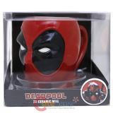 Marvel Deadpool Face Molded Ceramic Mug in Box