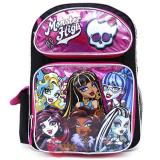 Monster High Large School Backpack 16in Girls  Bag - Pink Black