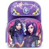 "Disney Descendants  Large School Backpack 16"" Mal Evie Bag -Fairy Tale"