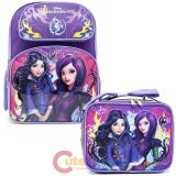 "Disney Descendants 16"" Large School  Backpack Lunch Bag 2pc Book Bag Set -Fairy Tale"