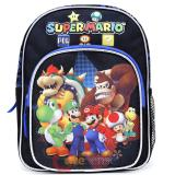 "Nintendo Super Mario Toddler School Backpack 10"" Boys Bag - Team Black"