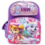 "Paw Patrol Large School Backpack 16"" Girls Bag with Skye Everest"