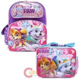 "Paw Patrol 16"" Large School Backpack Lunch Bag 2pc Book Bag Set with Skye Everest"
