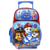 "Paw Patrol Large School Roller Backpack 16"" Trolley Rolling Bag - Paw Some Work"