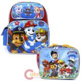 "Paw Patrol  12"" Small School Backpack Lunch Bag 2pc Set -Paw Some Work"
