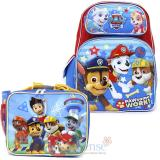 "Paw Patrol  16"" Large School  Backpack Lunch Bag 2pc Book Bag Set -Paw Some Work"