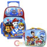 "Paw Patrol 16"" Large School Roller Backpack Lunch Bag 2pc Set -Paw Some Work"