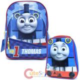 "Thomas Tank Engine 14"" School Backpack Die Cut Lunch Bag Set :Big Face"