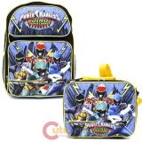 "Power Rangers Large 16"" School Backpack Lunch Bag 2pc Set -Dino Super Charge"
