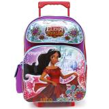"Disney Elena Avalor Large School Roller Backpack 16"" Trolley Rolling Bag"