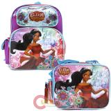 "Disney Elena Avalor  12"" Small School Backpack Lunch Bag 2pc Set"