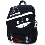 My Neighbor Totoro Canvas Large School Backpack Black