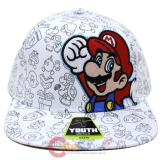 Super Mario Youth SnapBack Hat Trucker Flat Bill Cap