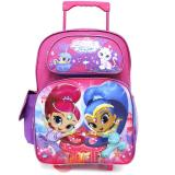 "Shimmer and Shine Large School Roller Backpack 16"" Trolley Rolling Bag"