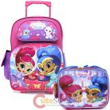 "Disney Elena Avalor 16"" Large School Roller Backpack Lunch Bag 2pc Set"