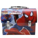 Marvel Spiderman Tin Lunch Box Metal Toy Case