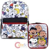 Peanuts Large School Backpack Lunch Tote Bag 2pc Set - Chucks and The Gang