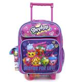 "Shopkins Toddler School  Backpack 12"" Small Roller Bag -Besties For Life"