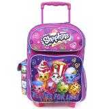 "Shopkins Large School Roller Backpack 16"" Trolley Rolling Bag-Besties For Life"