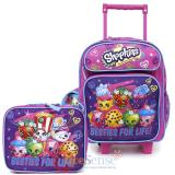 "Shopkins  12"" Small School Roller Backpack with Lunch Bag Set - Besties For Life"