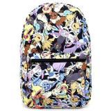 Pokemon Eevee Evolution All Over Prints School Backpack