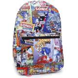 Sonic The Hedgehog All Over Prints School Backpack - Sonic Archie Comic Toss