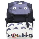 My Neighbor Totoro Large School Backpack Black White Chibi