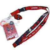Marvel Deadpool Lanyard ID Pocket with Face Charm - Outta The Way Nerd