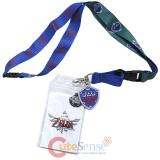 The Legent of Zleda Skyward Shield Crest Lanyard ID Pocket with Charm
