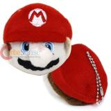 Super Mario Face Plush Doll Mini Key Chain
