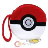 Pokemon Pokeball Plush Coin Wallet with Wrist Strap