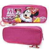 Disney Minnie Mouse Pencil Case Zippered Bag Hot Pink