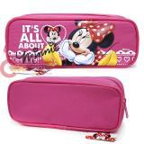 Disney Minnie Mouse Pencil Case Zippered Bag Hot Pink