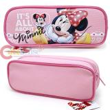 Disney Minnie Mouse Pencil Case Zippered Bag - Baby Pink